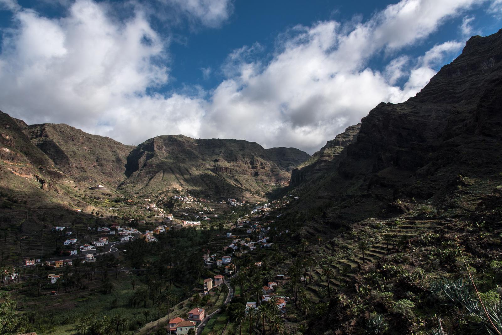 Blick ins Valle Gran Rey nach Norden