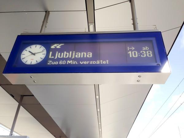 Auf nach Ljubljana (mit Verspätung)