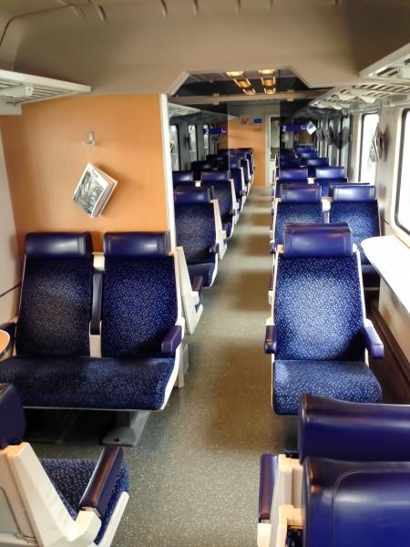 Leerer Zug nach Ljubljana