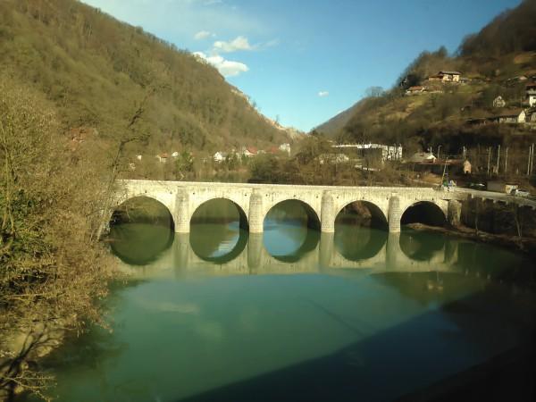 Brücke über die Savinja in Zidani Most