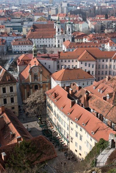 Schlossbergplatz von oben
