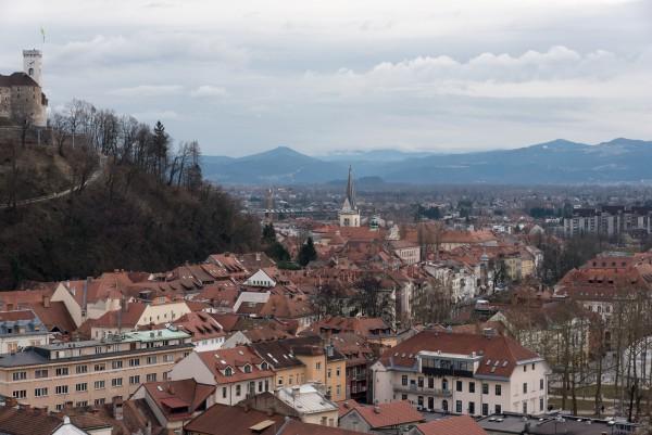 Auf dem einst höchsten Wolkenkratzer Zentraleuropas