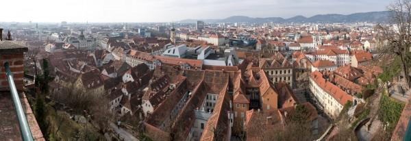 Panorama von Graz