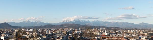 Alpenpanorama von Ljubljana