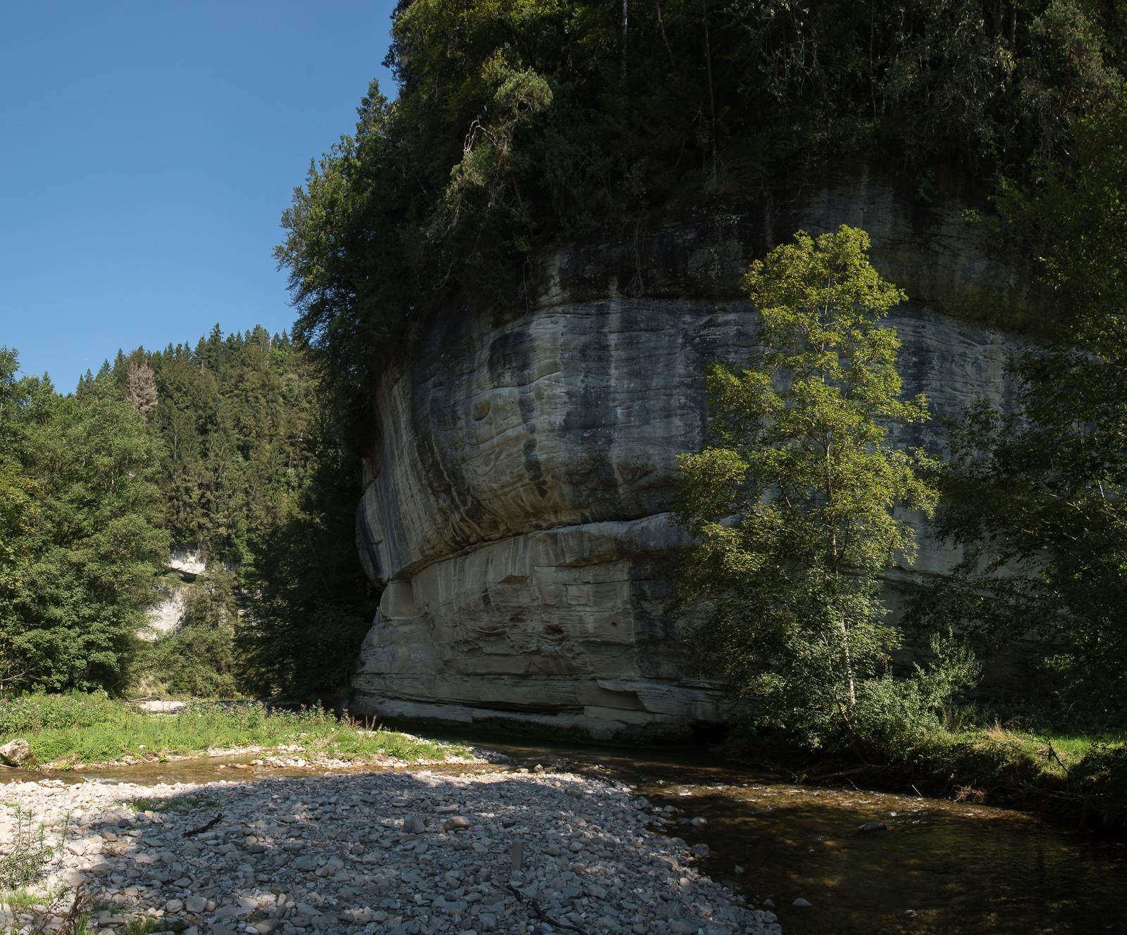 Mündung des Dorfbaches in das Schwarzwasser
