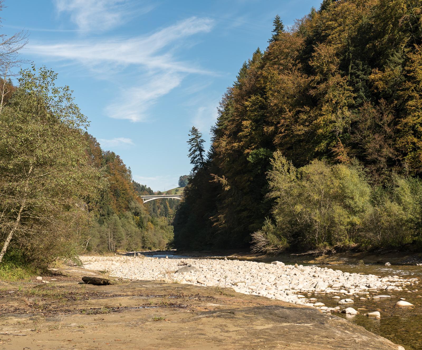 Sense und Schwarzwasserbrücke