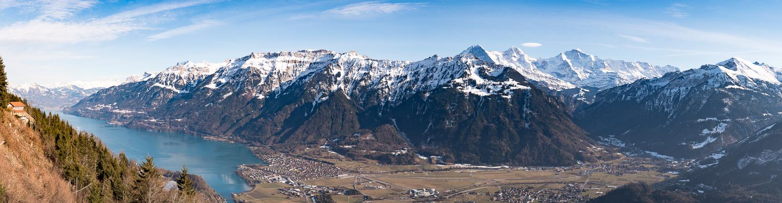 Brienzer See, Eiger, Mönch und Jungfrau
