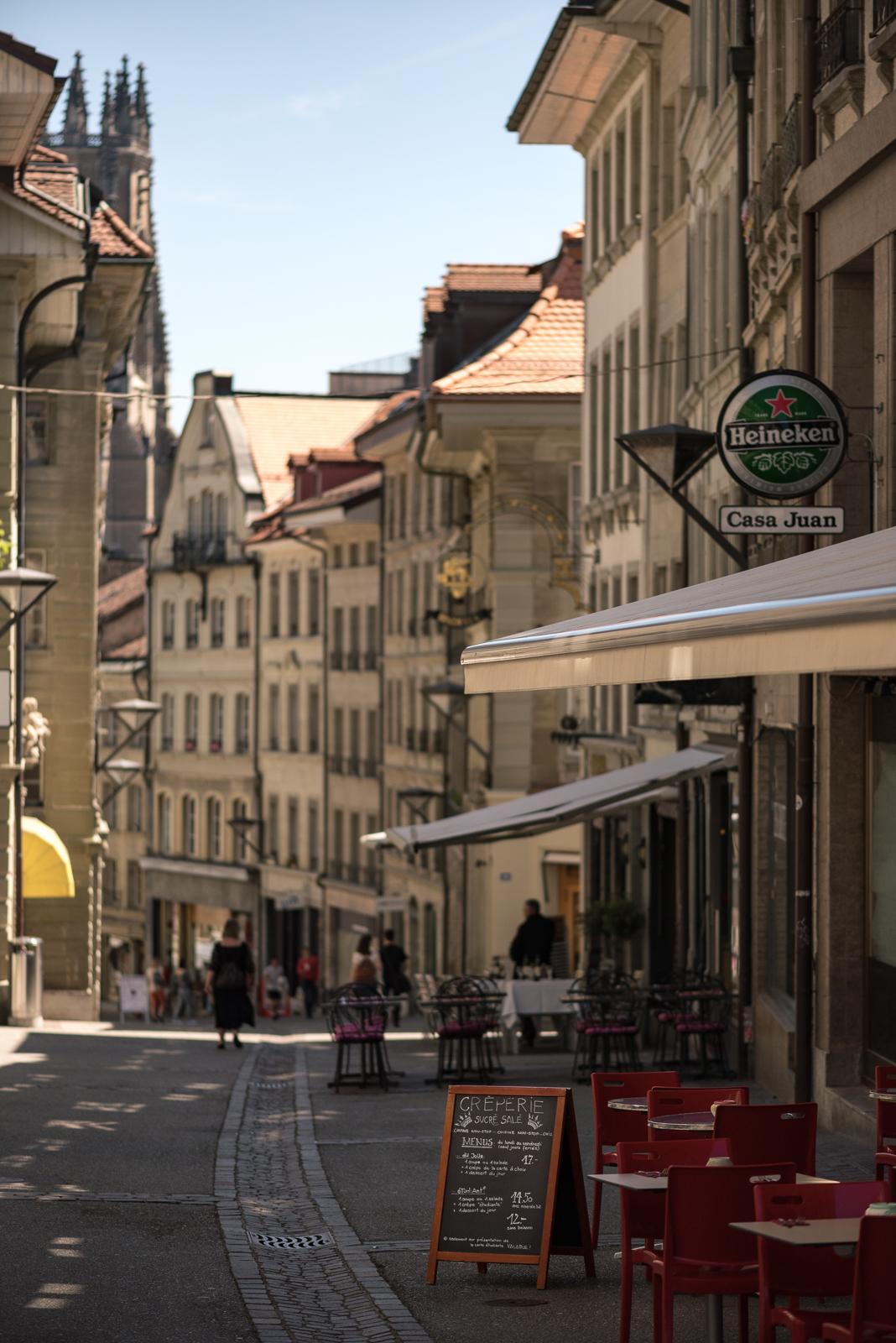 Fribourg zur Mittagszeit