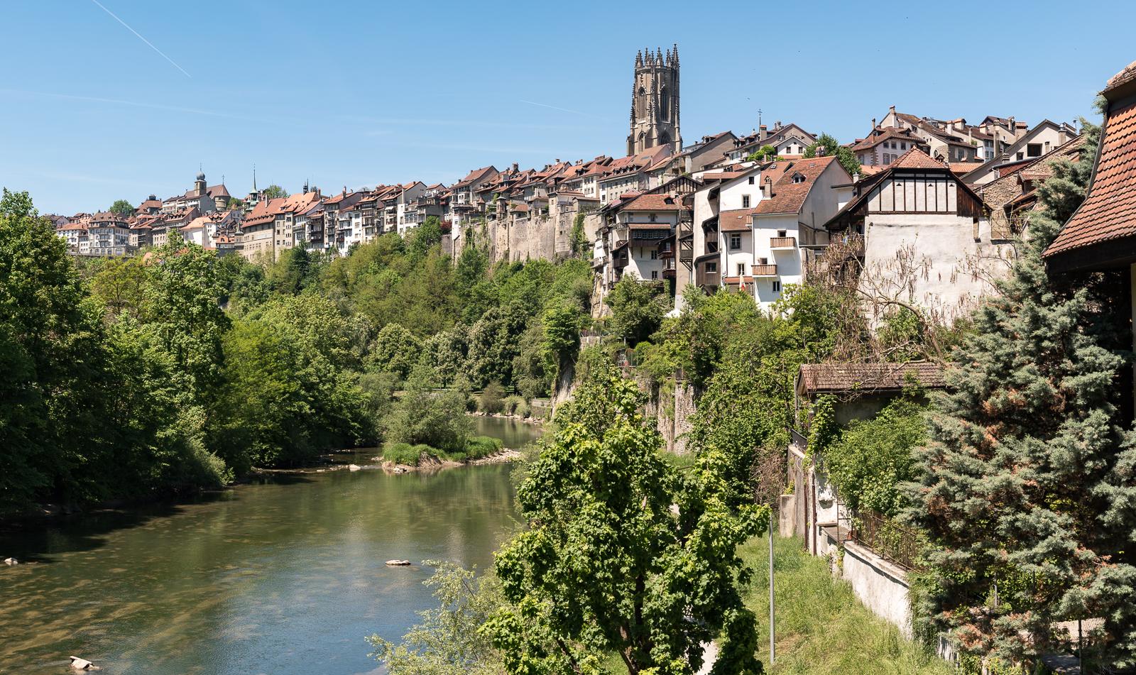 An der Saane in Fribourg