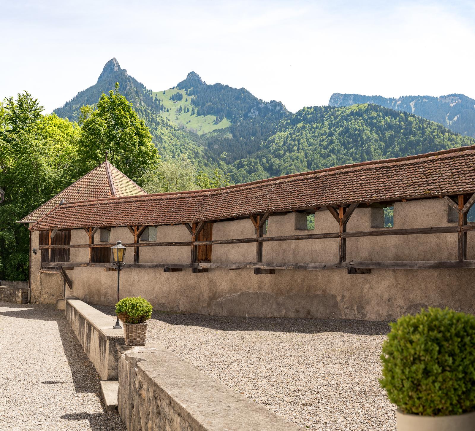Wehrmauer in Gruyeres