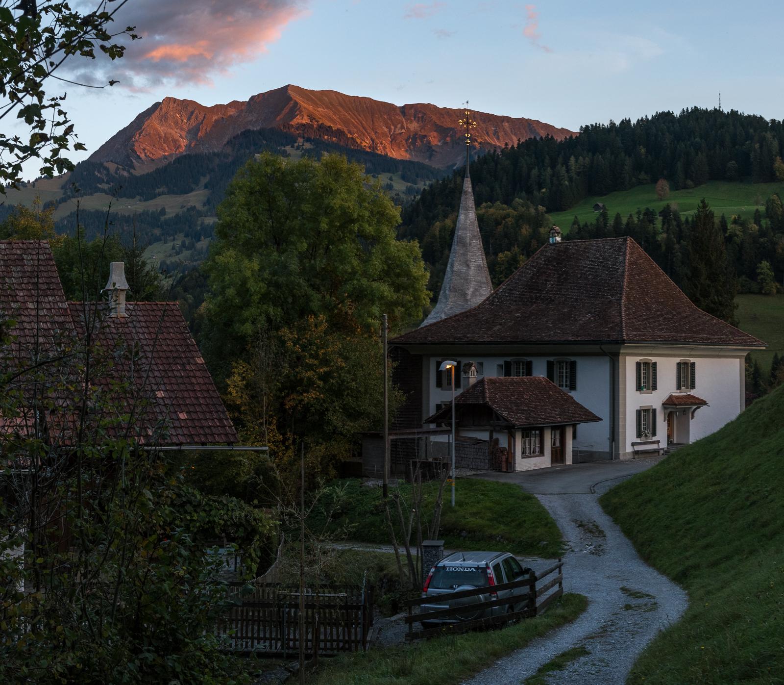 Abendrot in Erlenbach