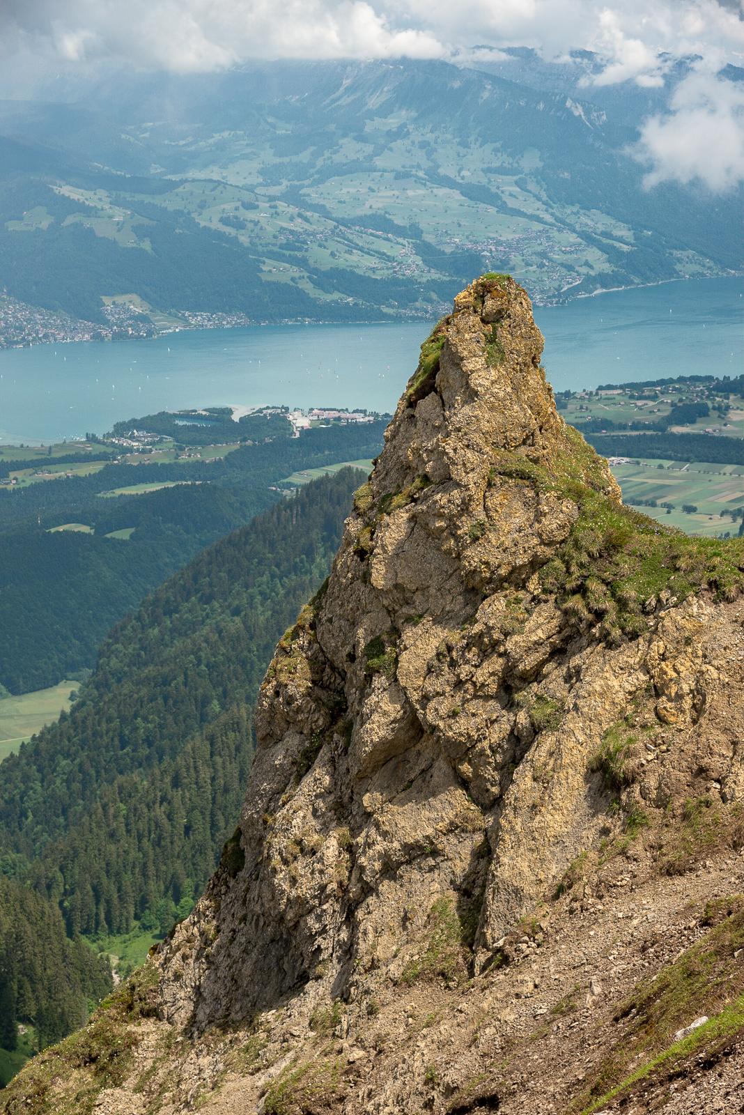Auf dem Weg nach oben, Blick auf den Thuner See