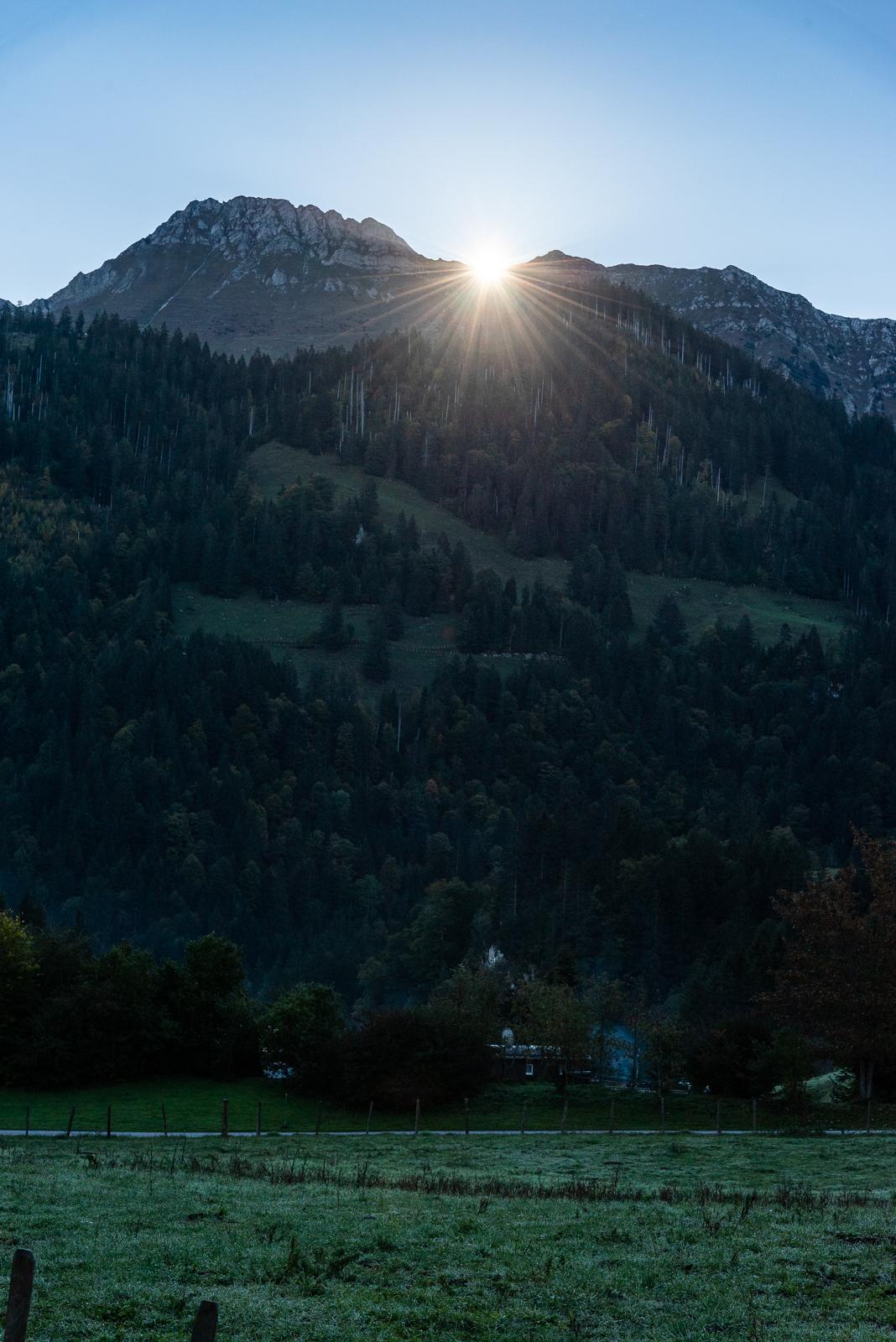 Sonnenaufgang am Kaiseregg